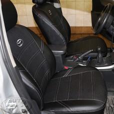 Чехол Тойота Королла Е160 (ЭКОкожа + перфорация) чёрный
