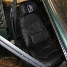 Чехол ВАЗ-2114 (ЭКОкожа + перфорация) чёрный чемодан